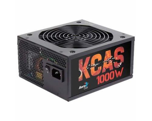 Блок питания Power Supply Aerocool KCAS-1000M, 1000W, ATX, APFC, 20+4 pin, 4+4pin, 10*Sata, 6*Molex, 1*FDD, 6*PCI-E 6+2 pin