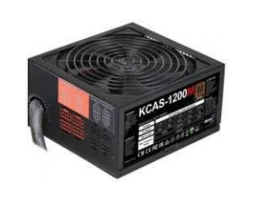 Блок питания Power Supply Aerocool KCAS-1200M, 1200W, ATX, APFC, 20+4 pin, 4+4pin, 10*Sata, 4*Molex, 1*FDD, Поддержка Haswel