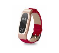 Кожаный ремешок для Xiaomi Mi Band 2 (красный)